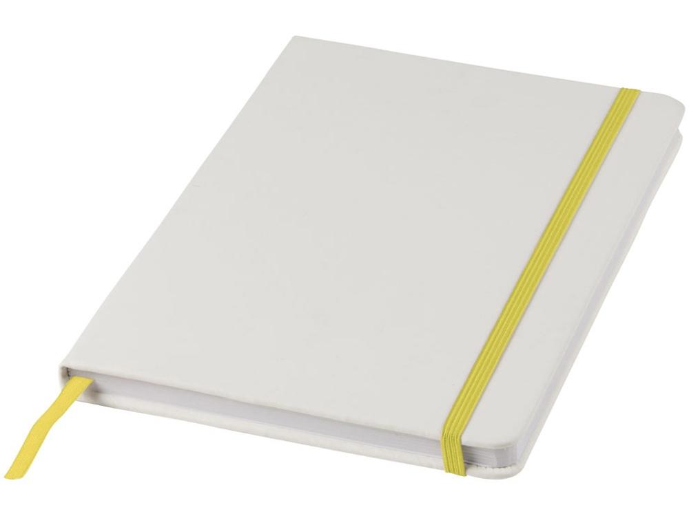 Блокнот А5 Spectrum, белый/желтый