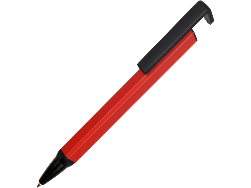 Ручка-подставка металлическая, Кипер Q, красный/черный