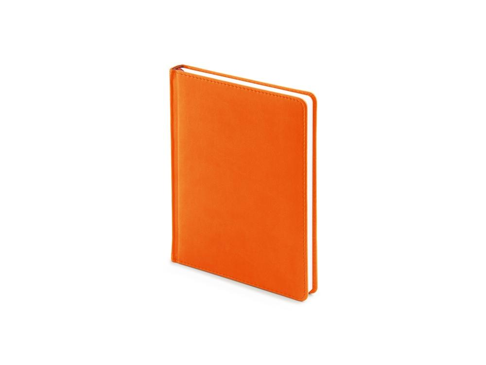 Ежедневник недатированный А6+ Velvet, оранжевый флуор