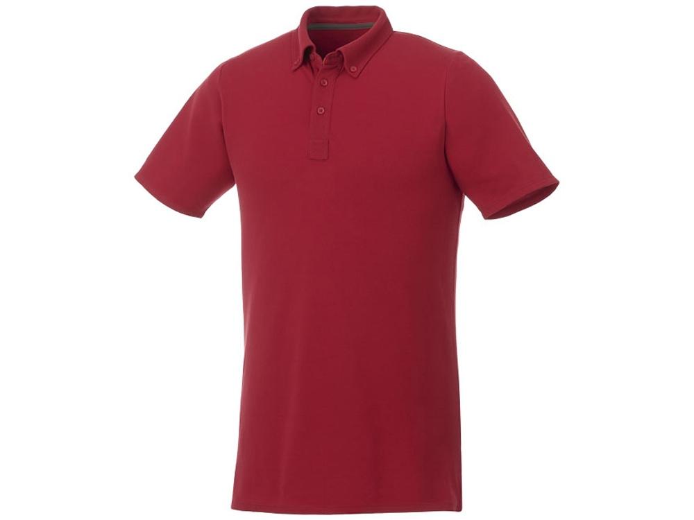 Мужская футболка поло Atkinson с коротким рукавом и пуговицами, красный