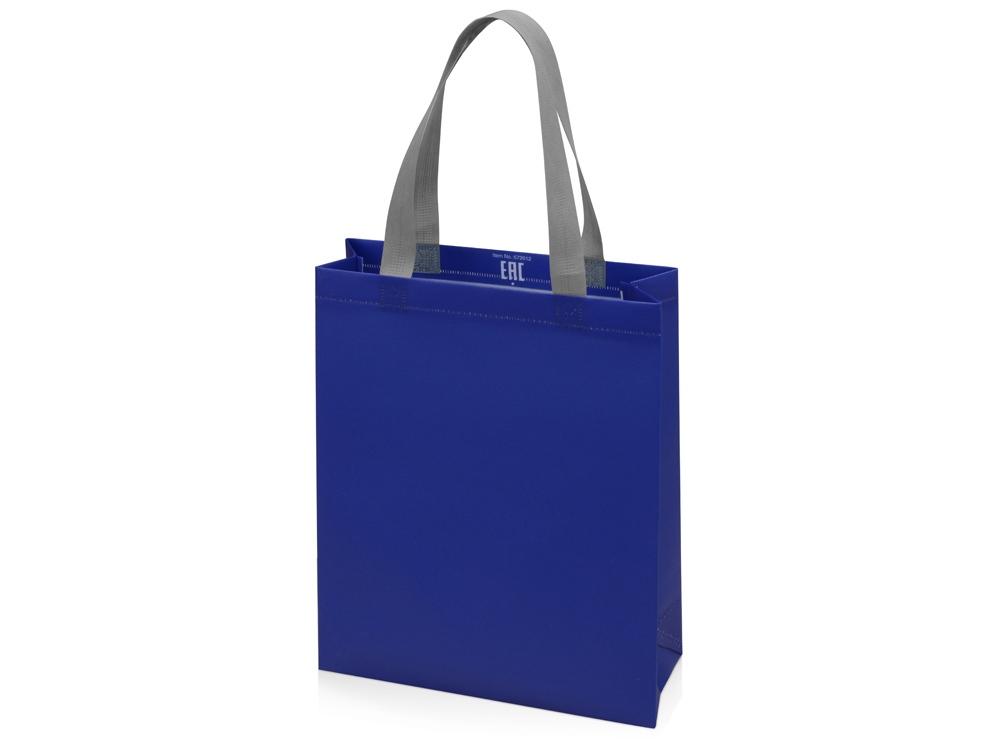 Сумка для шопинга Utility ламинированная, синий матовый