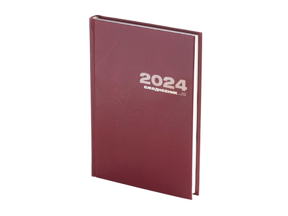 Ежедневник А5 датированный Бумвинил 2020, бордовый