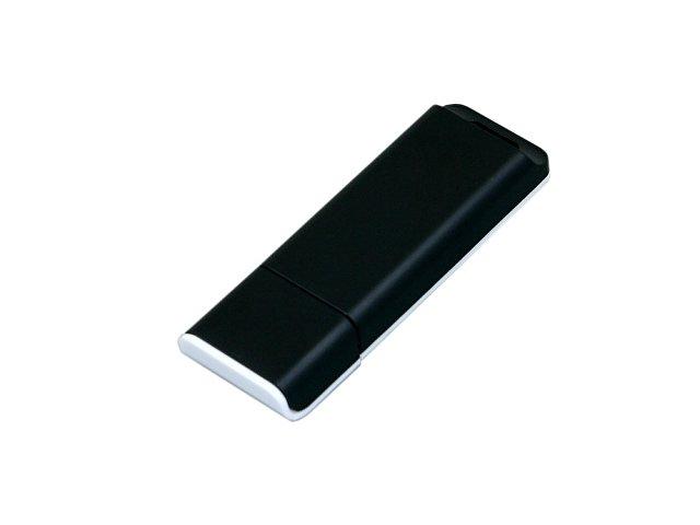Флешка прямоугольной формы, оригинальный дизайн, двухцветный корпус, 64 Гб, черный/белый