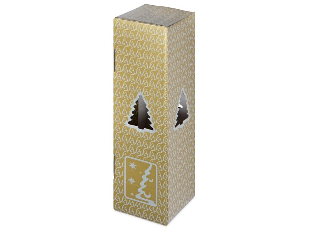 Новогодняя коробка для шампанского, золото