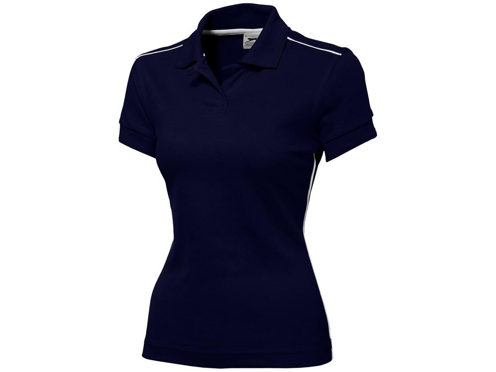 Рубашка поло Backhand женская, темно-синий/белый