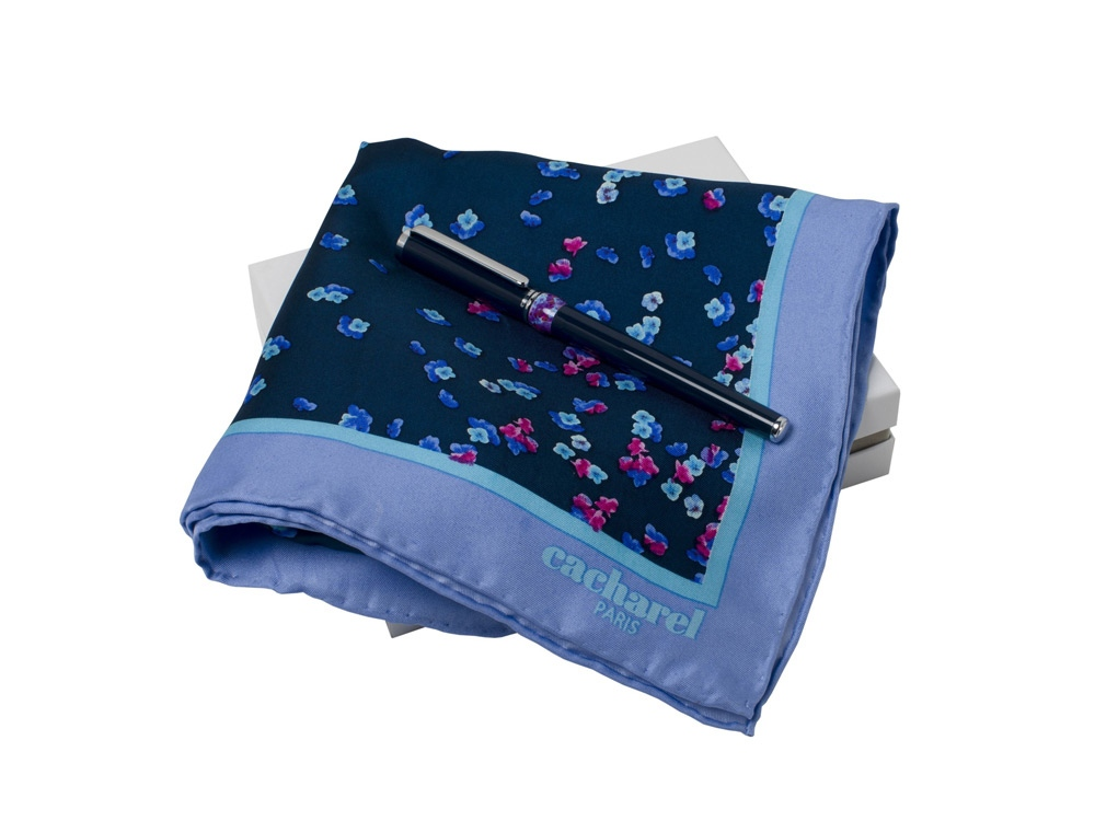 Подарочный набор Blossom: шелковый платок, ручка-роллер. Cacharel
