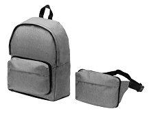 Рюкзак из переработанного пластика «Extend» 2-в-1 с поясной сумкой (арт. 939318)
