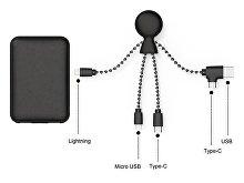 Портативное зарядное устройство «BioPack» c кабелем «Mr. Bio», 5000 mAh (арт. 965112), фото 3