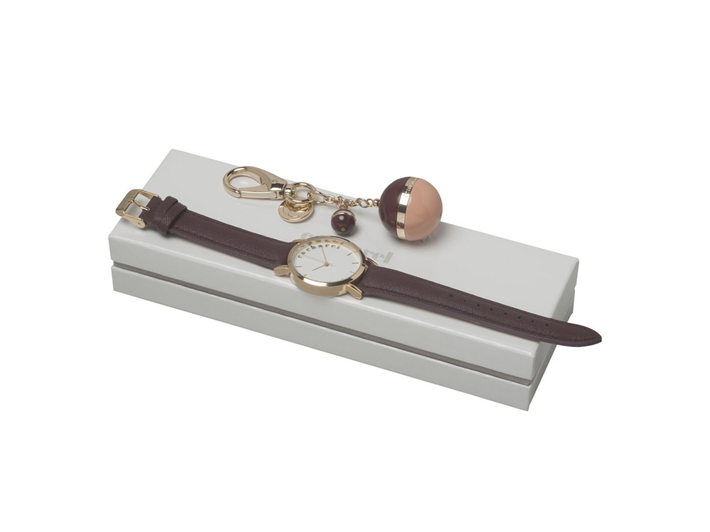 Подарочный набор Bird: брелок, часы наручные. Cacharel