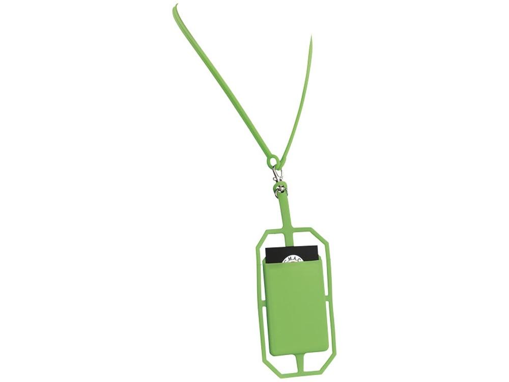 Картхолдер RFID со шнурком, лайм