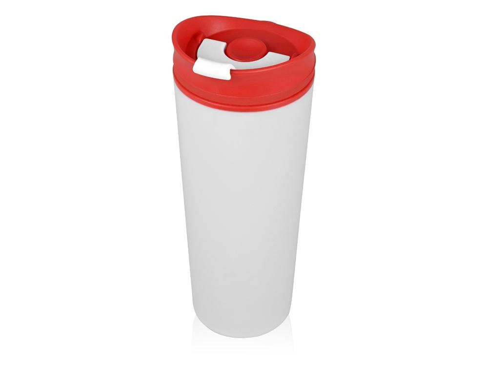 Термокружка Brite 500мл, белый/красный