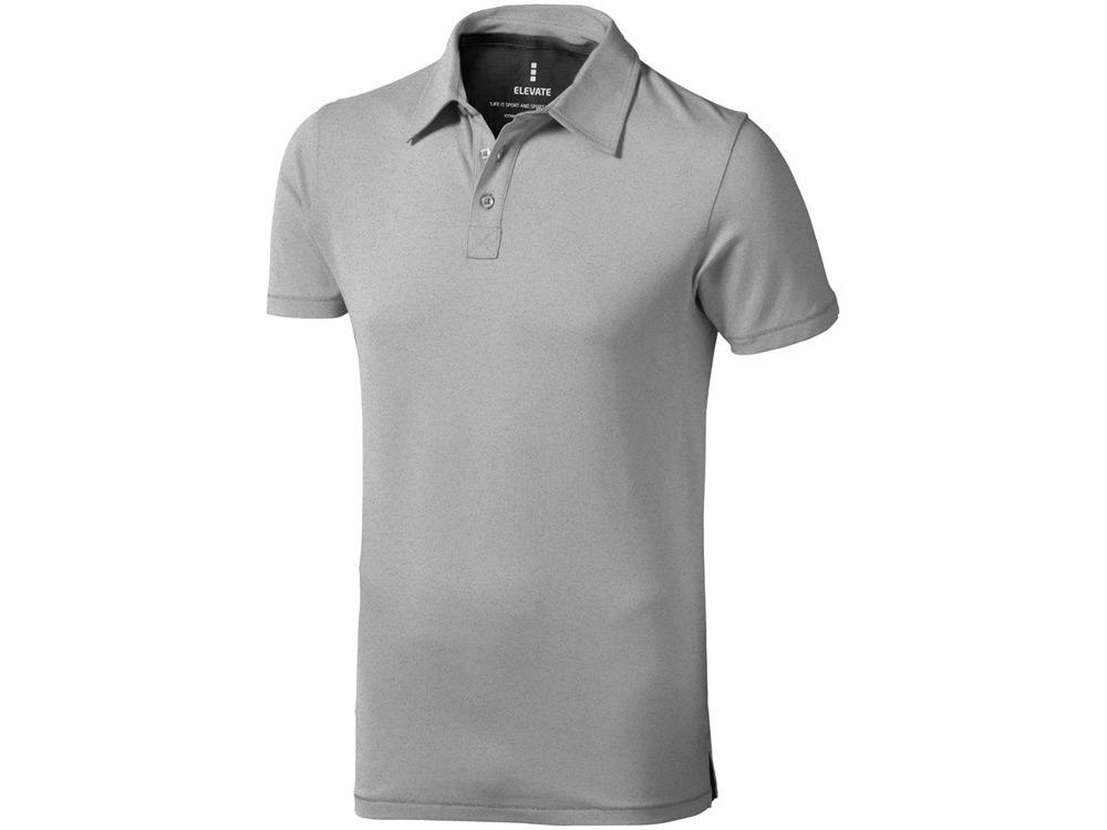 Рубашка поло Markham мужская, серый меланж/антрацит