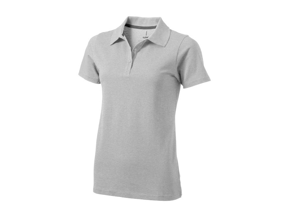 Рубашка поло Seller женская, серый меланж