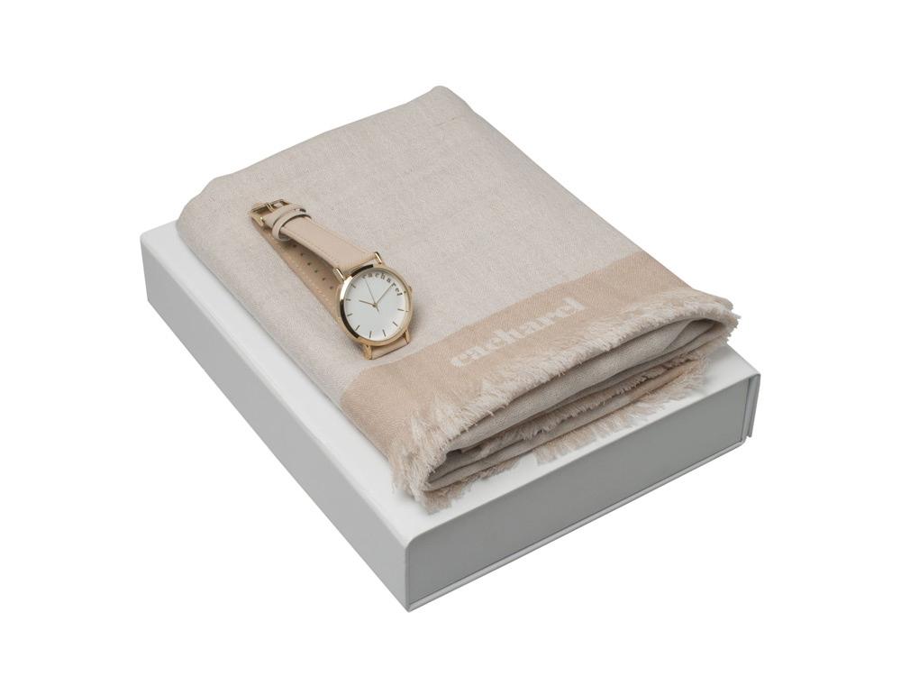 Подарочный набор Bird: шарф, часы наручные. Cacharel
