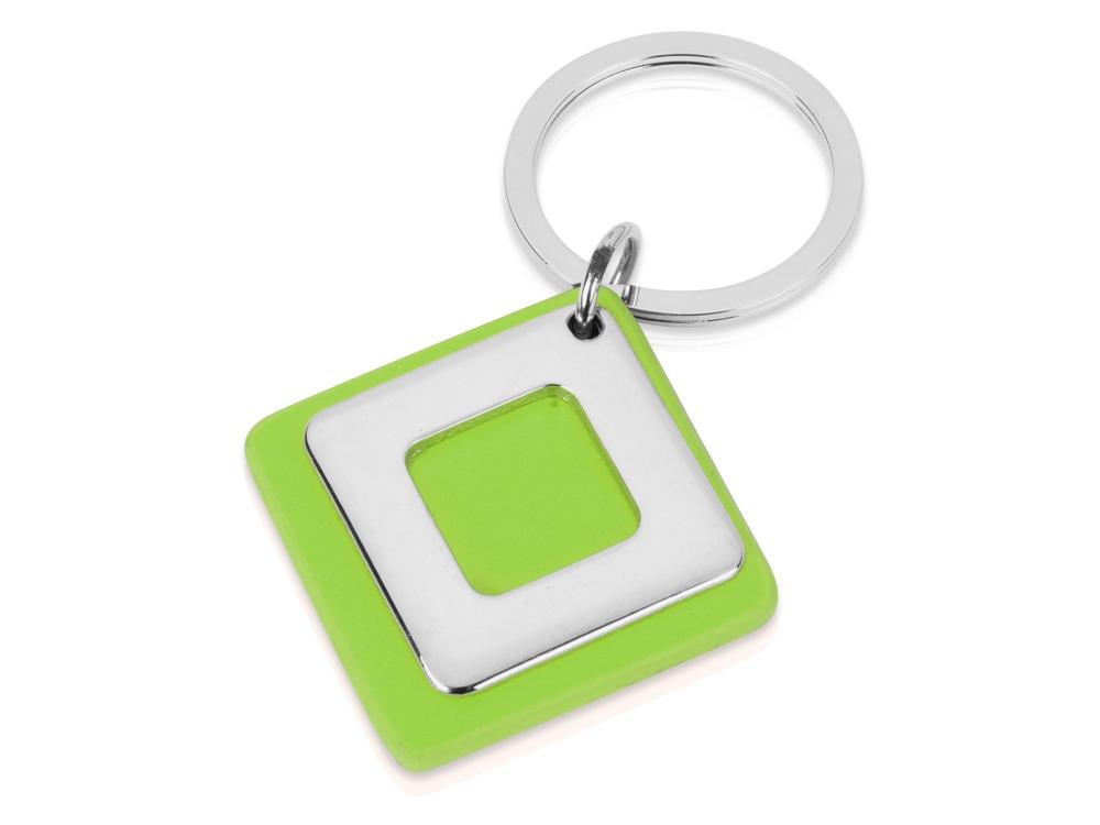 Брелок, зеленый/серебристый