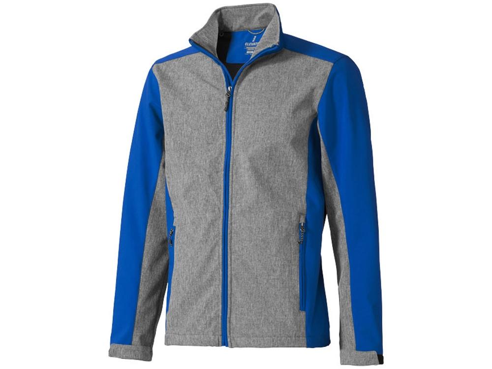 Куртка софтшел Vesper мужская, синий/темно-серый