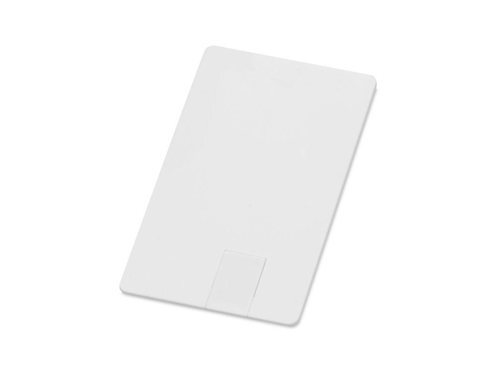 Флеш-карта USB 2.0 16 Gb в виде пластиковой карты Card, белый