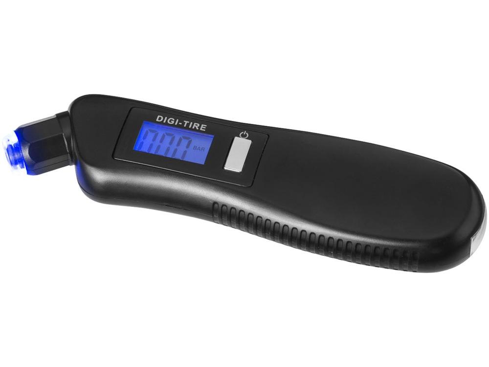 Цифровой манометр Shines со светодиодным фонариком 3 в 1, черный