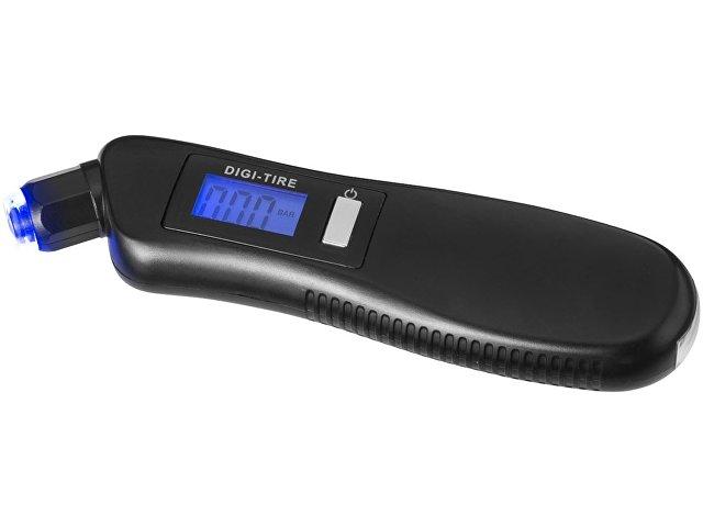 Цифровой манометр Shines со светодиодным фонариком «3 в 1», черный