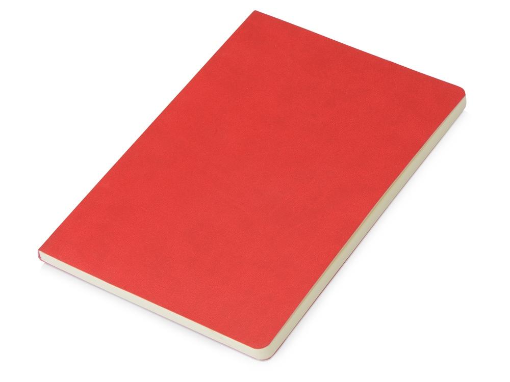 Блокнот Wispy линованный в мягкой обложке, красный
