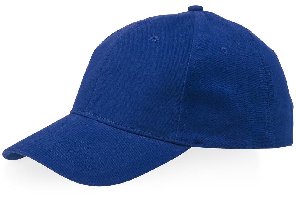 Бейсболка Bryson, 6 панелей, синий