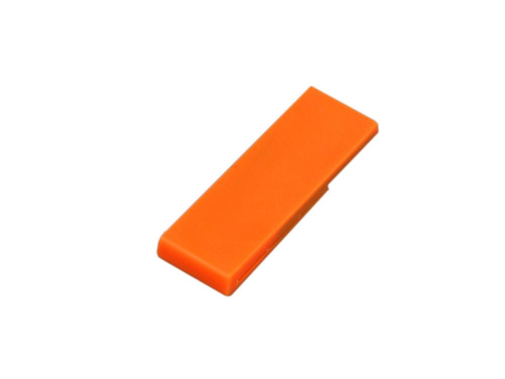 Флешка промо в виде скрепки, 16 Гб, оранжевый