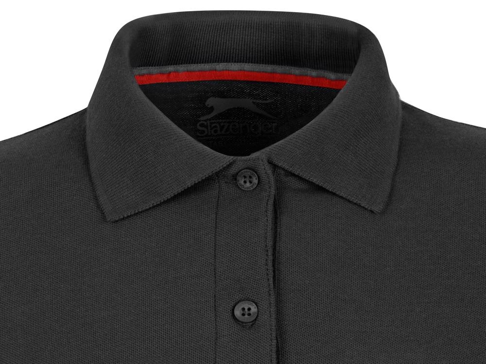Рубашка поло Point женская с длинным рукавом, черный