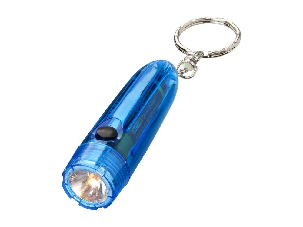Брелок-фонарик Bullet, синий прозрачный