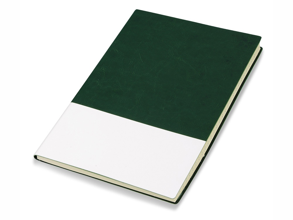 Блокнот Fusion, зеленый/белый. Lettertone