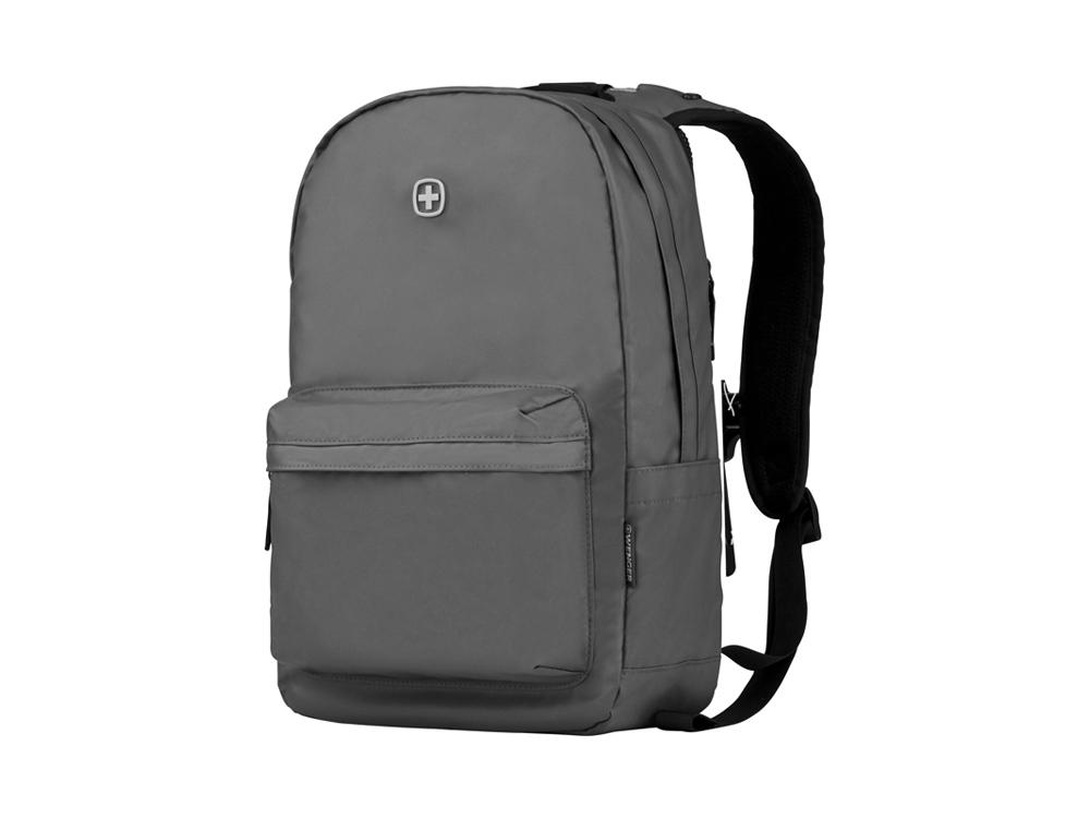 Рюкзак WENGER 18 л с отделением для ноутбука 14'' и с водоотталкивающим покрытием, серый