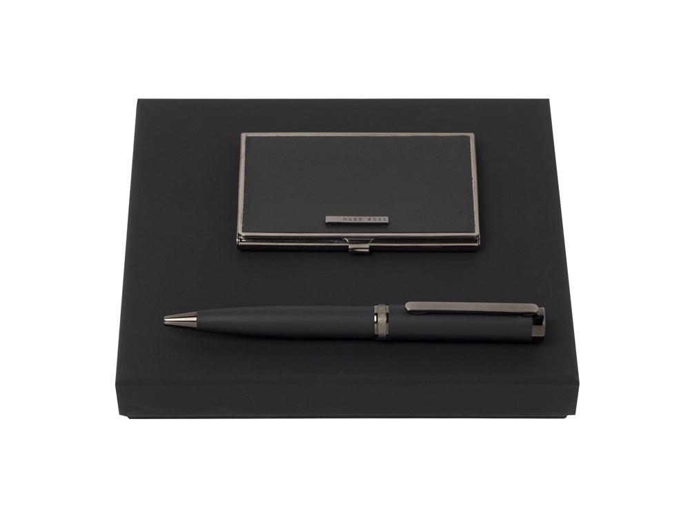 Подарочный набор: визитница, ручка шариковая. Hugo Boss