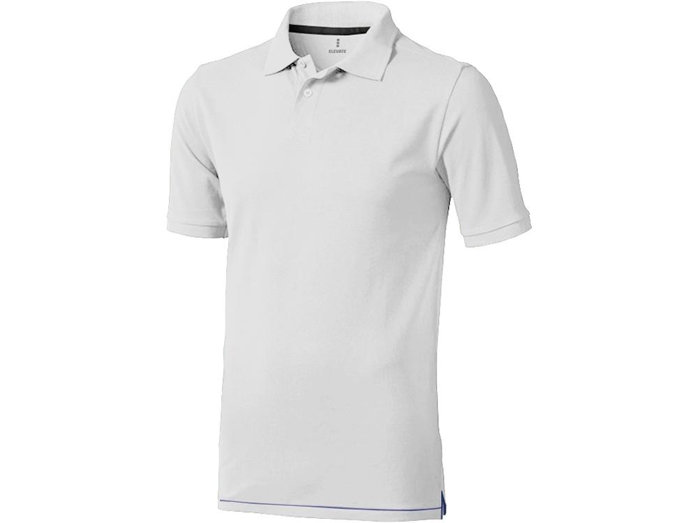 Рубашка поло Calgary мужская, белый/темно-синий