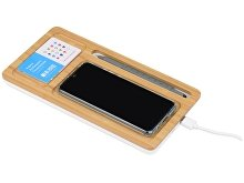 Беспроводное зарядное устройство-органайзер из бамбука «Timber» (арт. 590908), фото 2