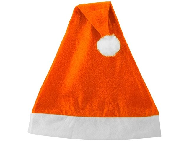 Новогодняя шапка, оранжевый/белый