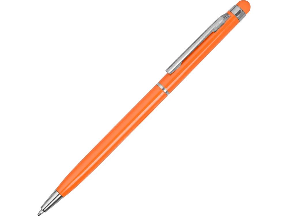 Ручка-стилус металлическая шариковая Jucy, оранжевый