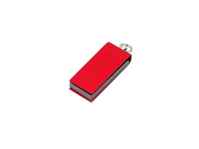 Флешка с мини чипом, минимальный размер, цветной  корпус, 16 Гб, красный
