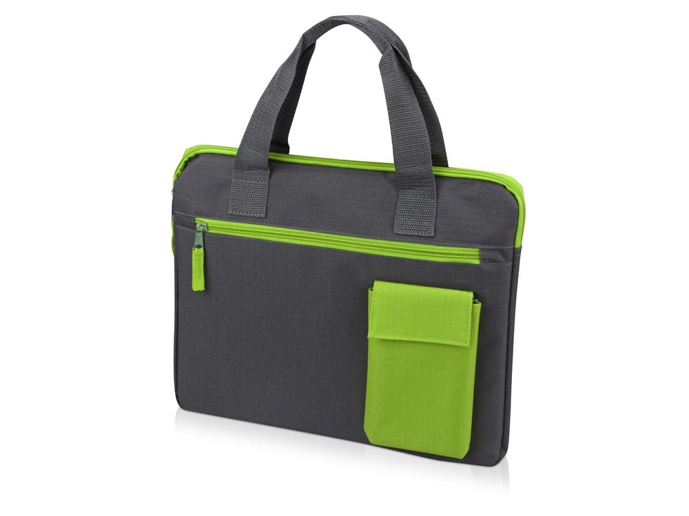 Конференц сумка Session, серый/зеленый