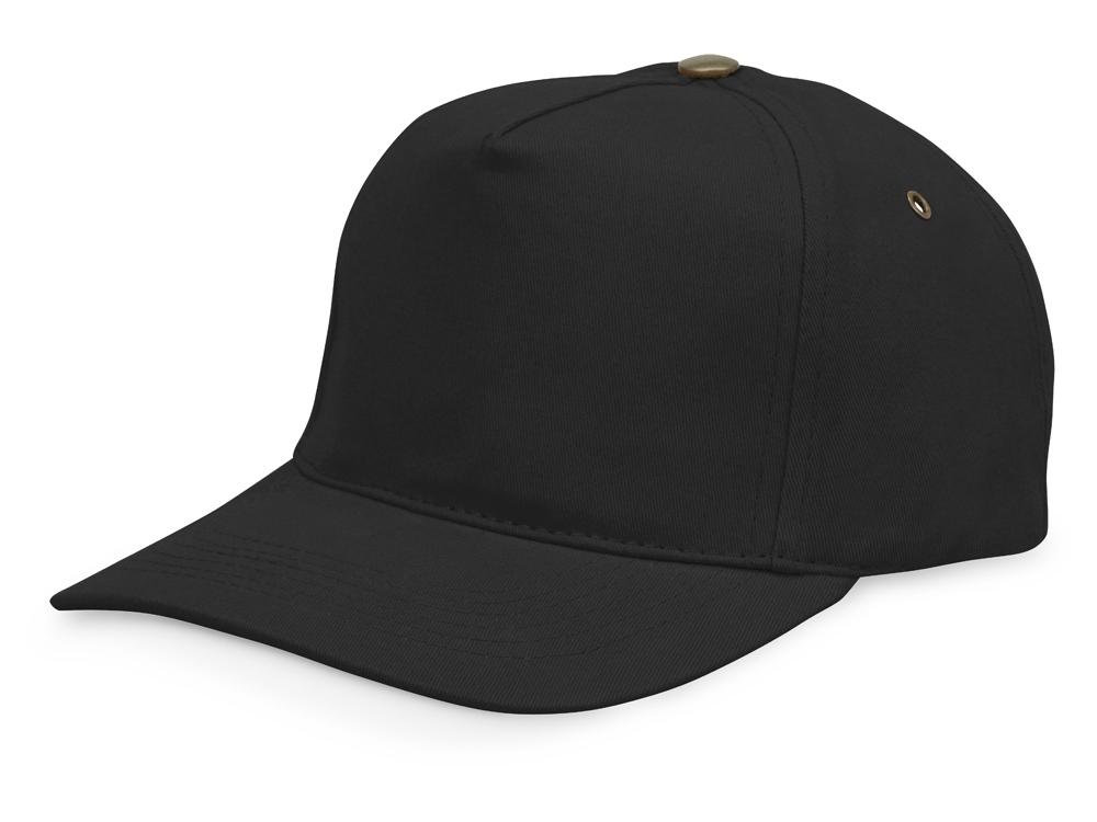 Бейсболка New York  5-ти панельная  с металлической застежкой и фурнитурой, черный