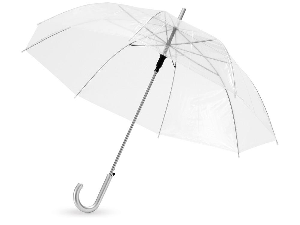 Зонт-трость Клауд полуавтоматический 23, прозрачный