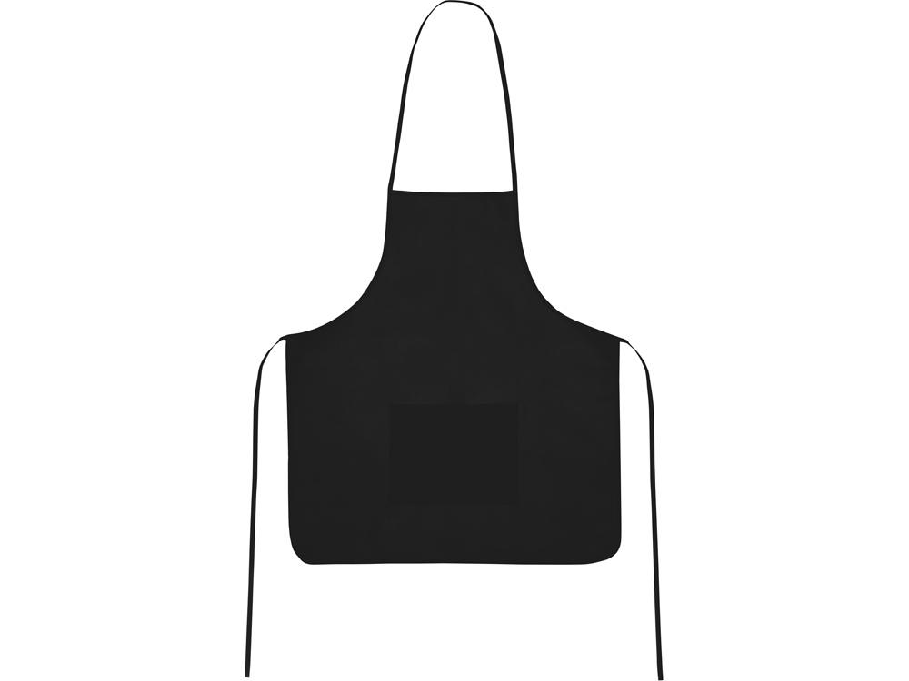 Фартук, черный, плотность 80г/м2