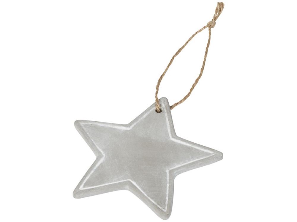 Сезонное украшение-звезда, серый