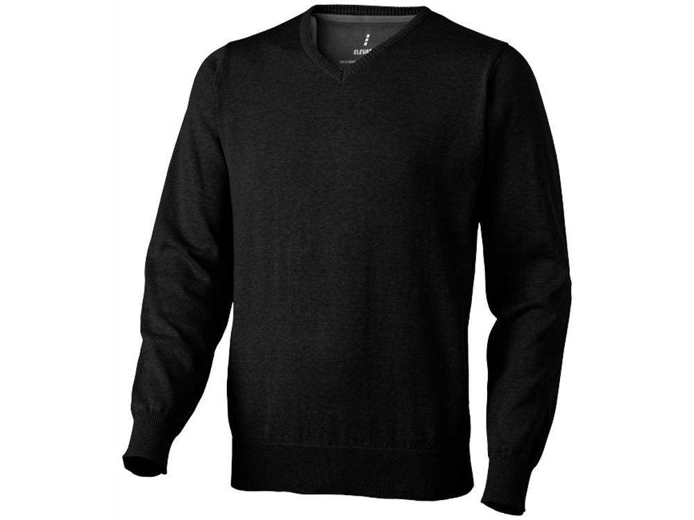 Пуловер Spruce мужской с V-образным вырезом, черный