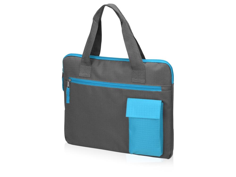 Конференц сумка Session, серый/голубой