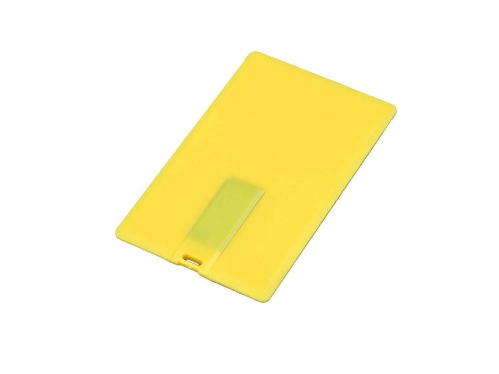 Флешка в виде пластиковой карты, 16 Гб, желтый