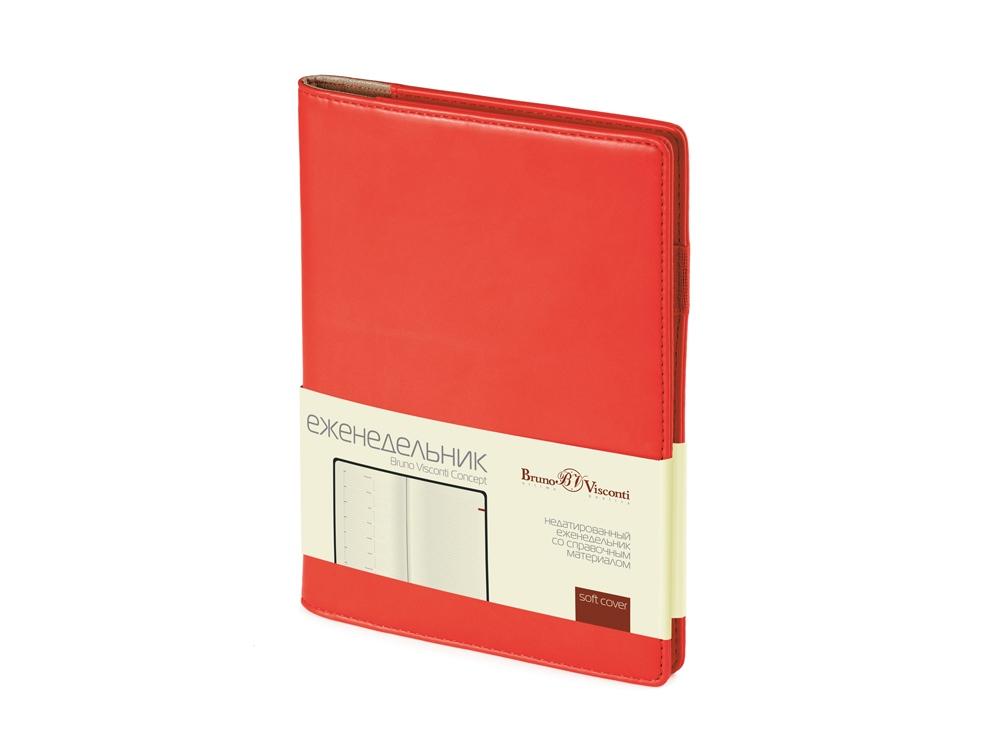 Еженедельник недатированный А5 Concept, красный