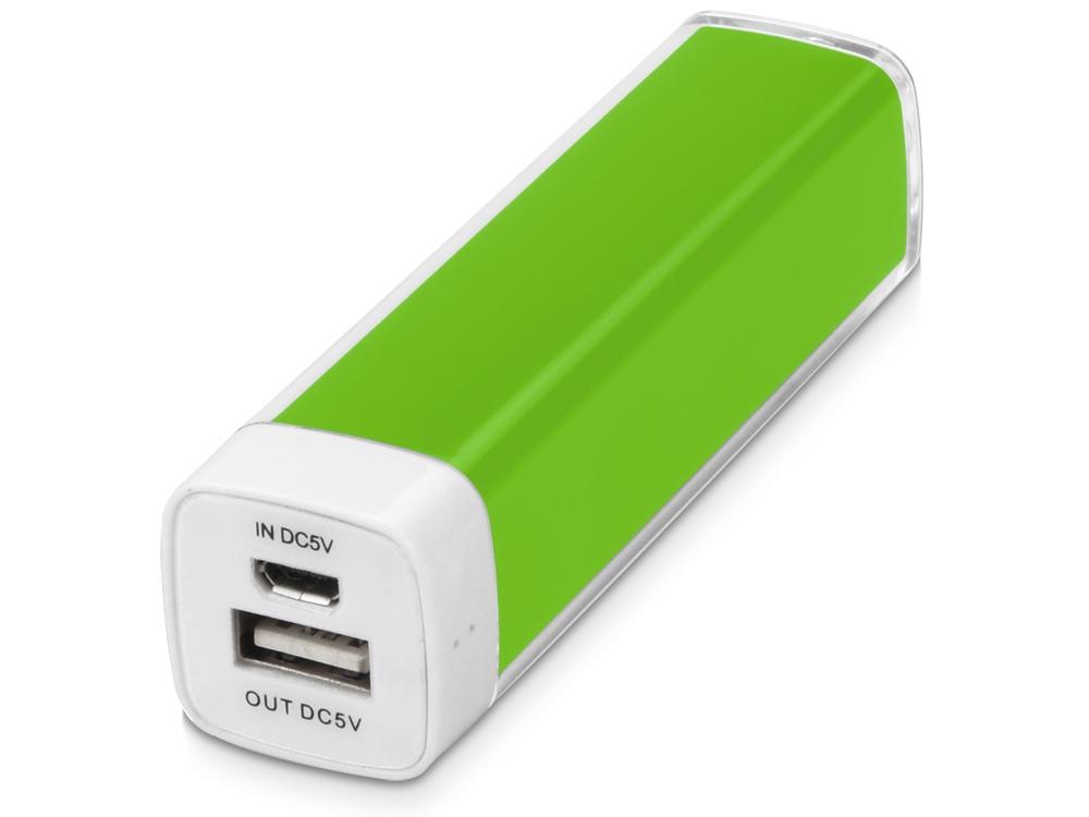 Портативное зарядное устройство Ангра, 2200 mAh, зеленое яблоко