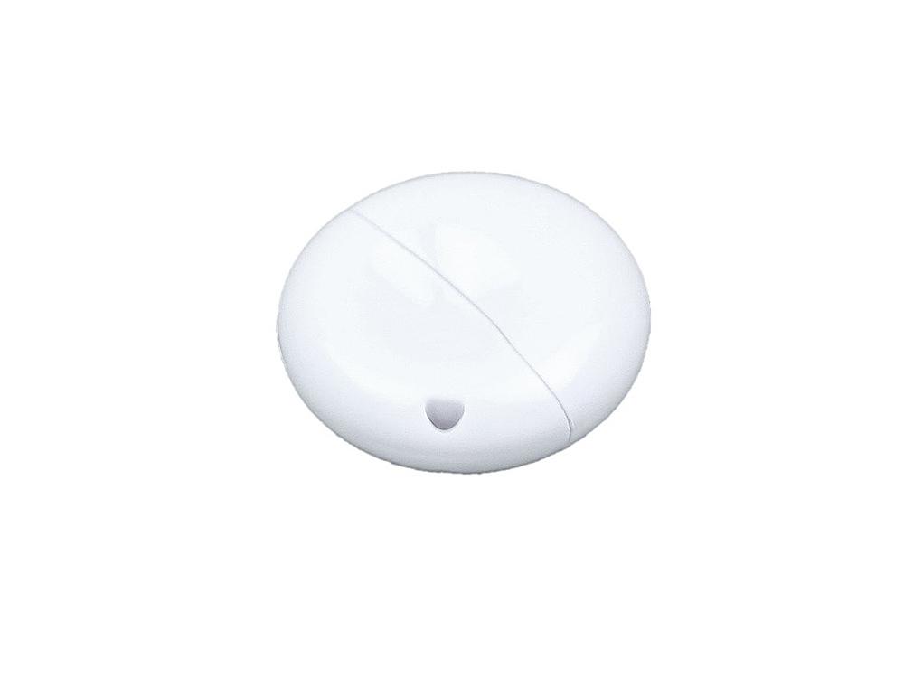 Флешка промо круглой формы, 64 Гб, белый