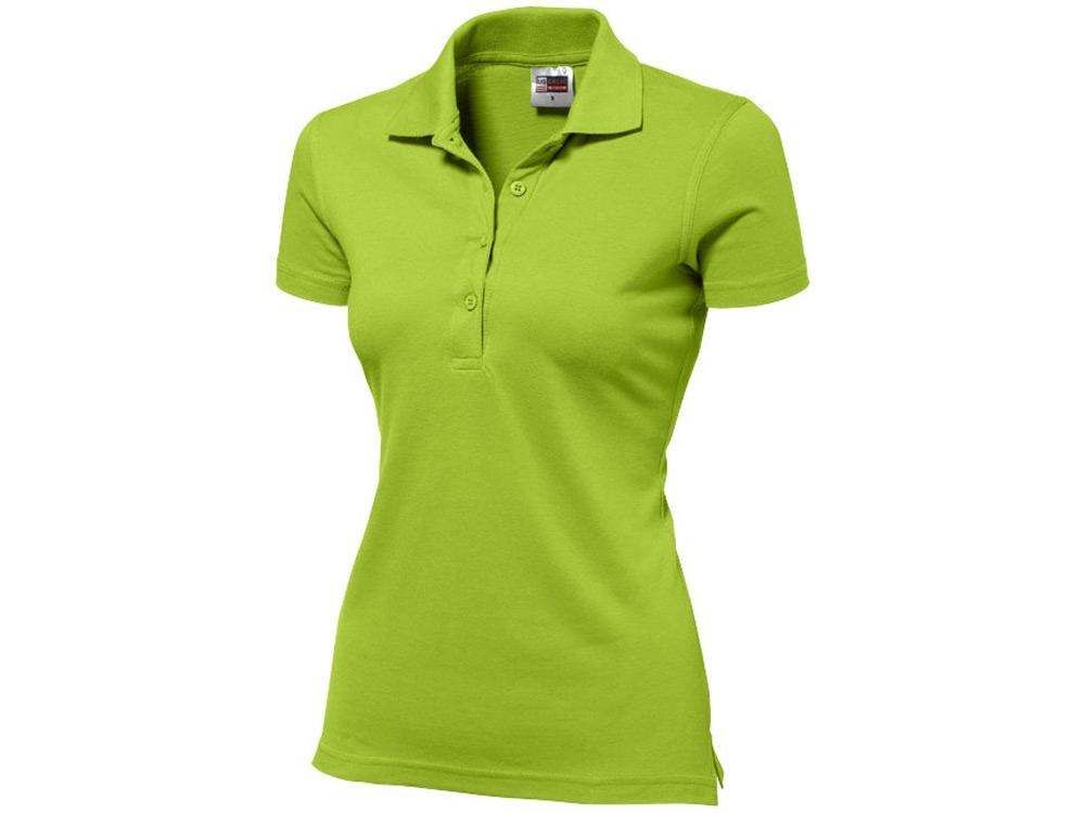 Рубашка поло First женская, зеленое яблоко