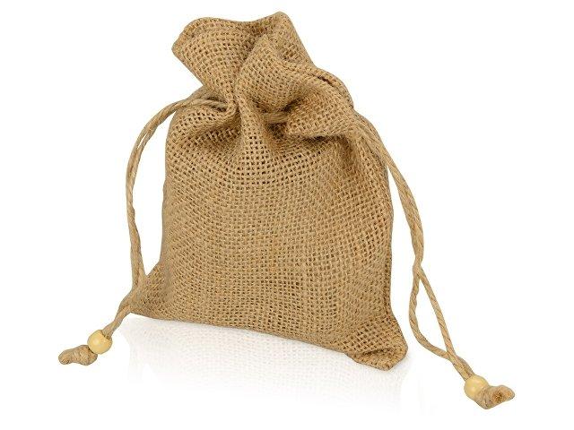 Мешочек подарочный, джут, средний, натуральный
