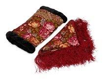 Подарочный набор: Павлопосадский платок, муфта (арт. 74782)